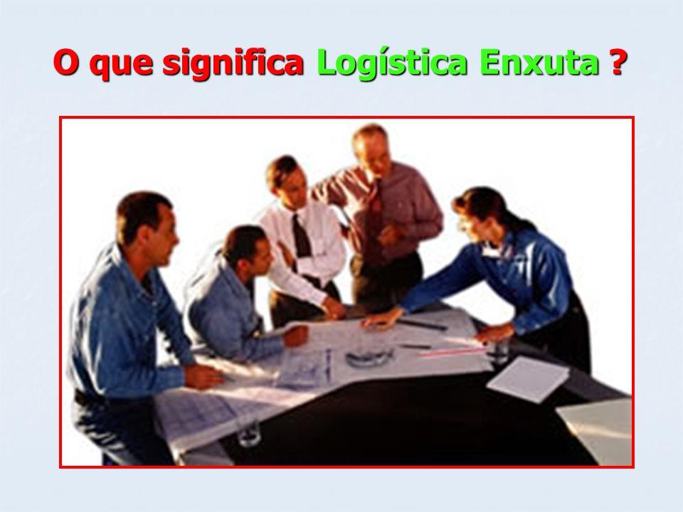 O que significa Logística Enxuta