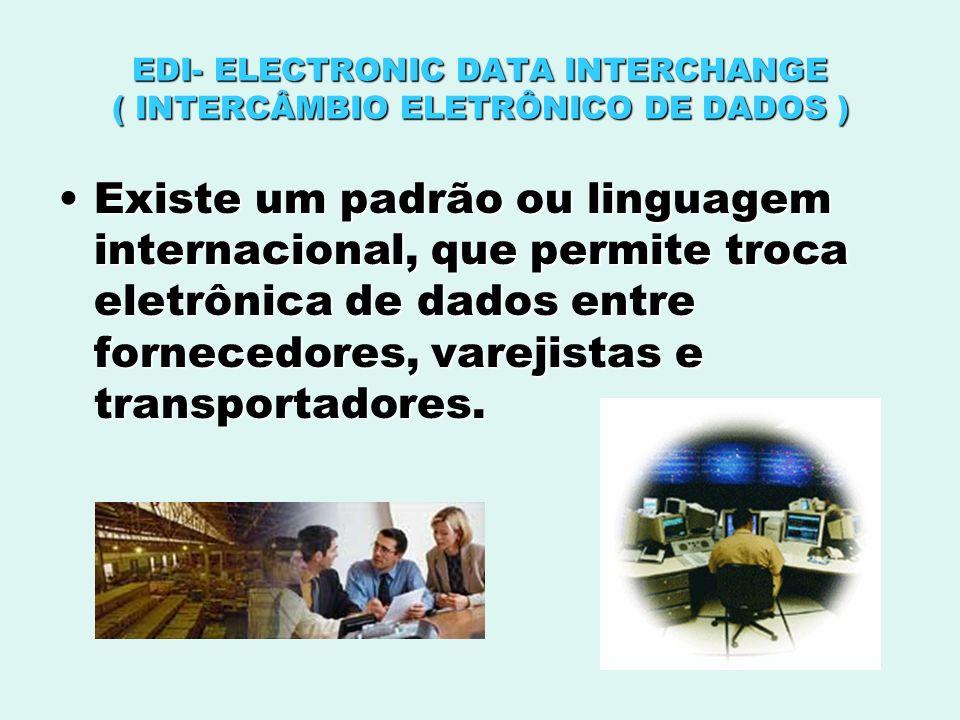 EDI- ELECTRONIC DATA INTERCHANGE ( INTERCÂMBIO ELETRÔNICO DE DADOS )