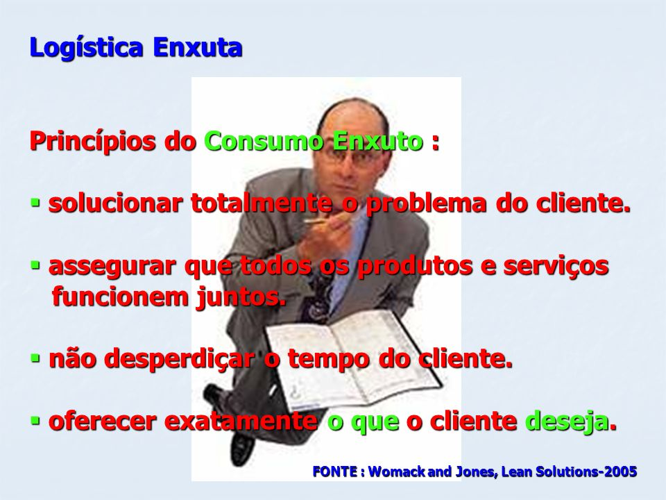 Princípios do Consumo Enxuto :