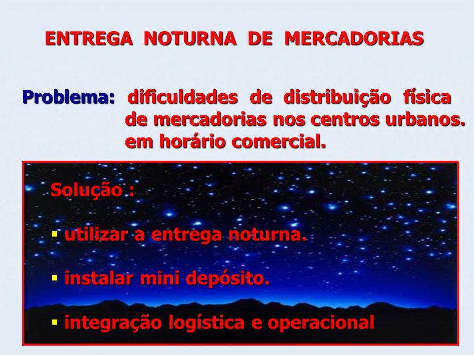 ENTREGA NOTURNA DE MERCADORIAS