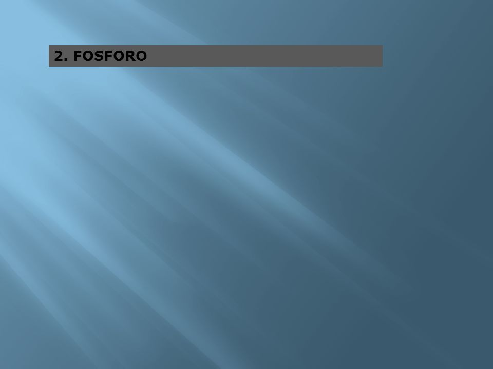 2. FOSFORO