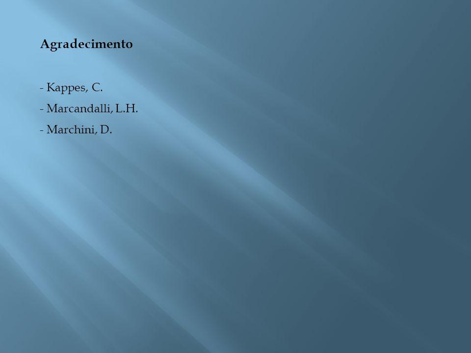 Agradecimento Kappes, C. Marcandalli, L.H. Marchini, D.