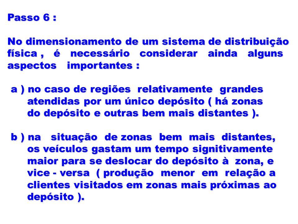 Passo 6 : No dimensionamento de um sistema de distribuição. física , é necessário considerar ainda alguns.