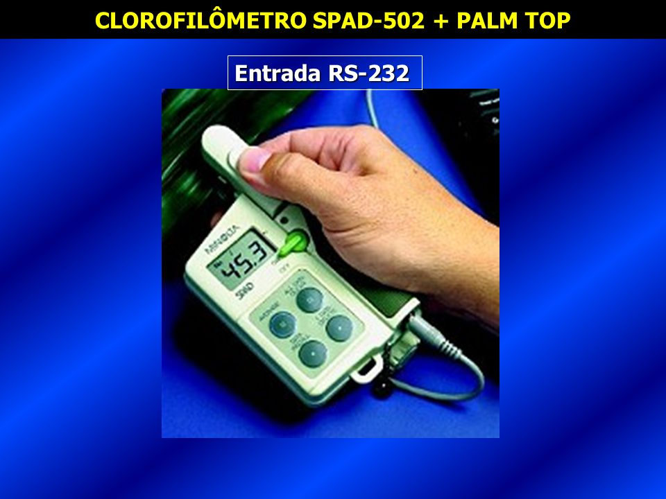 CLOROFILÔMETRO SPAD-502 + PALM TOP