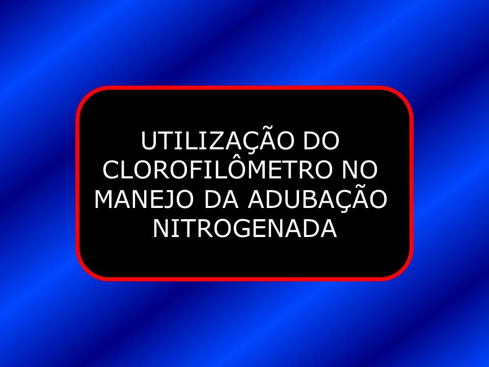 UTILIZAÇÃO DO CLOROFILÔMETRO NO MANEJO DA ADUBAÇÃO NITROGENADA
