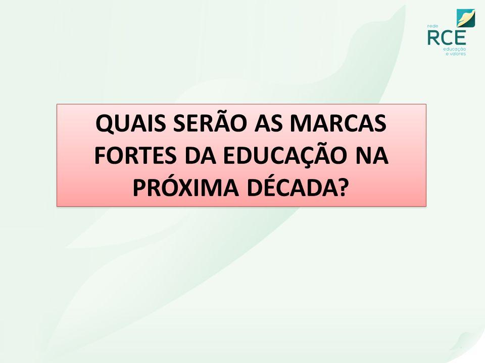 QUAIS SERÃO AS MARCAS FORTES DA EDUCAÇÃO NA PRÓXIMA DÉCADA
