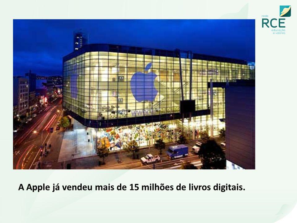 A Apple já vendeu mais de 15 milhões de livros digitais.