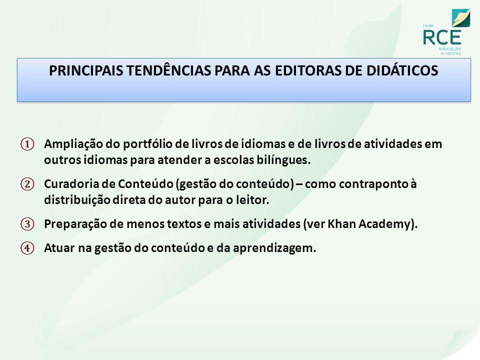 PRINCIPAIS TENDÊNCIAS PARA AS EDITORAS DE DIDÁTICOS