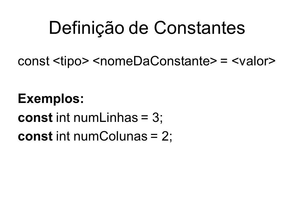 Definição de Constantes