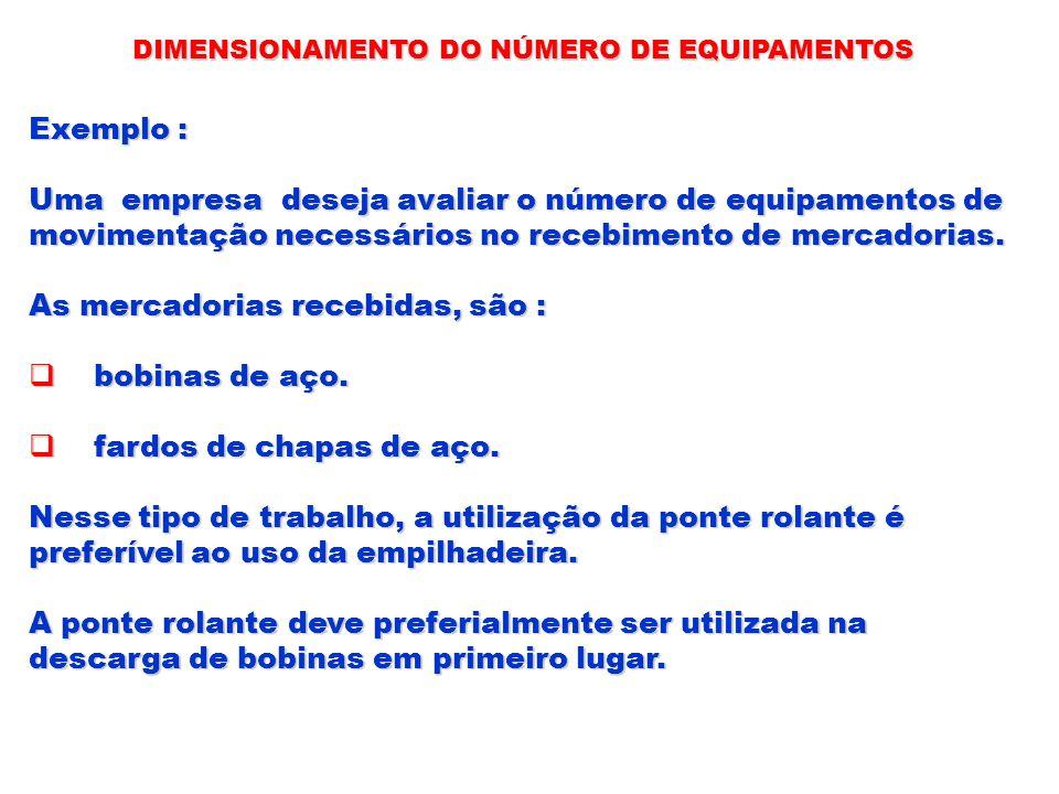 Uma empresa deseja avaliar o número de equipamentos de
