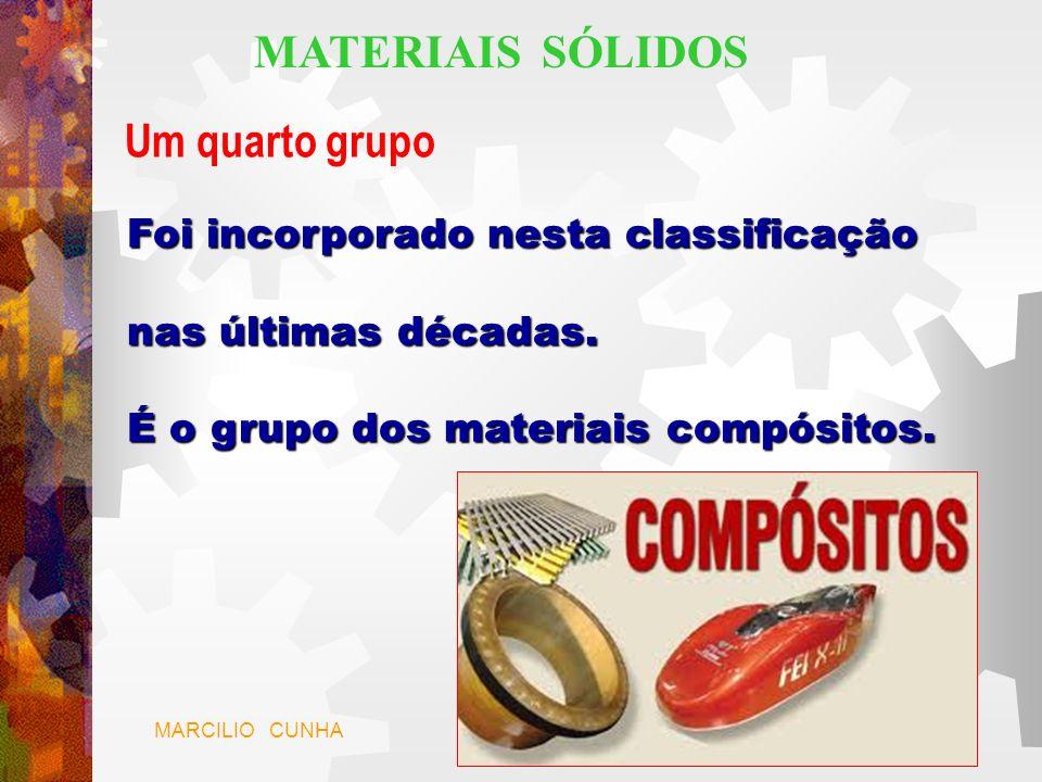 MATERIAIS SÓLIDOS Um quarto grupo Foi incorporado nesta classificação