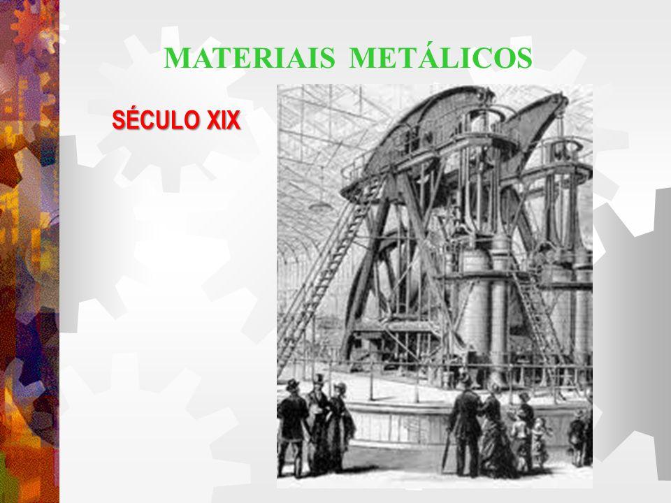 MATERIAIS METÁLICOS SÉCULO XIX