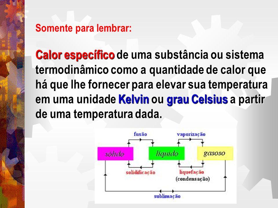 Calor específico de uma substância ou sistema