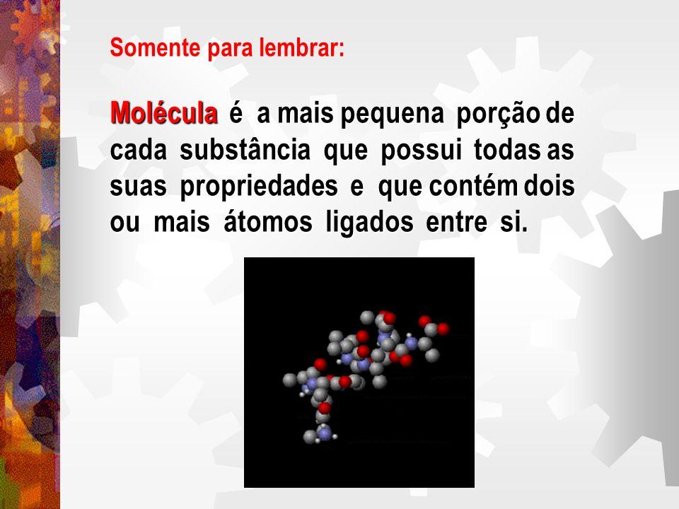 Molécula é a mais pequena porção de