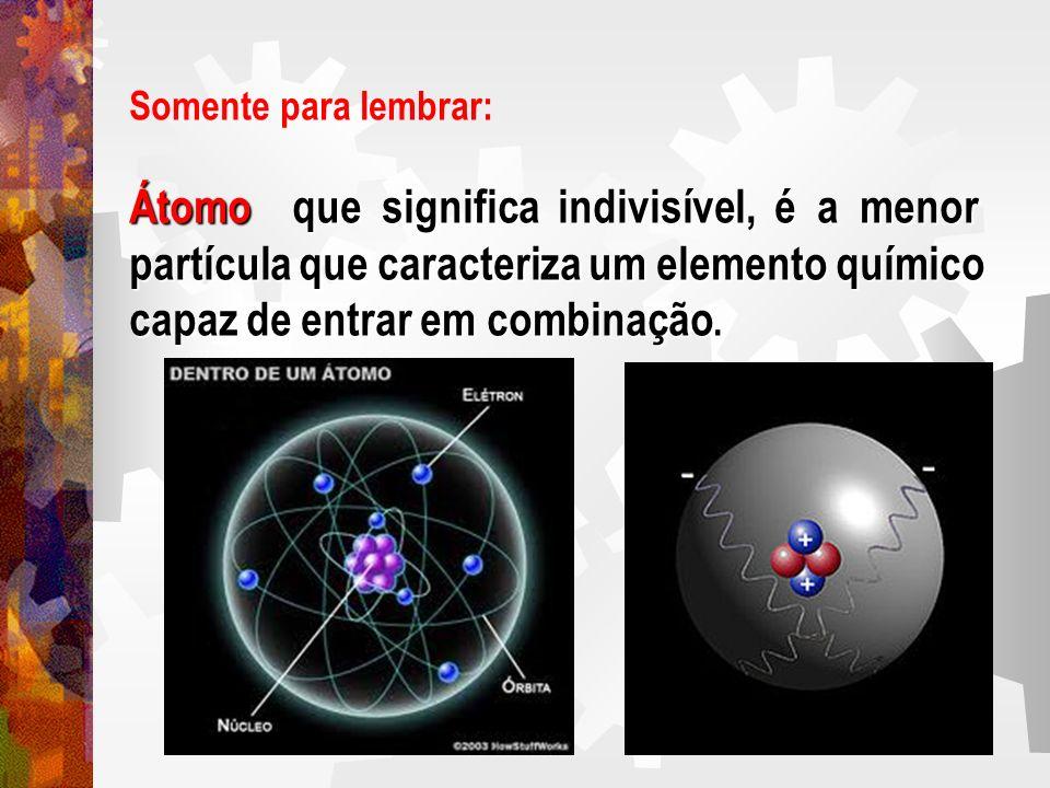 Átomo que significa indivisível, é a menor