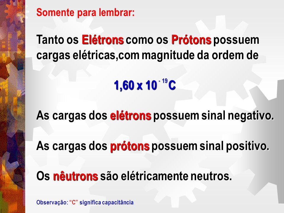 Tanto os Elétrons como os Prótons possuem