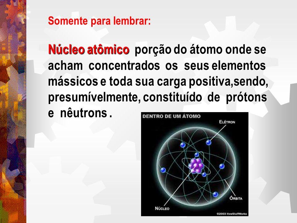 Núcleo atômico porção do átomo onde se