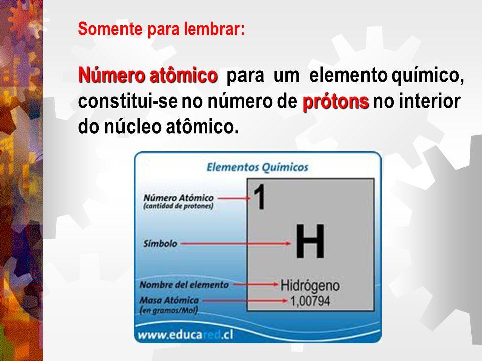 Número atômico para um elemento químico,