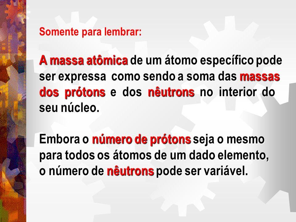A massa atômica de um átomo específico pode