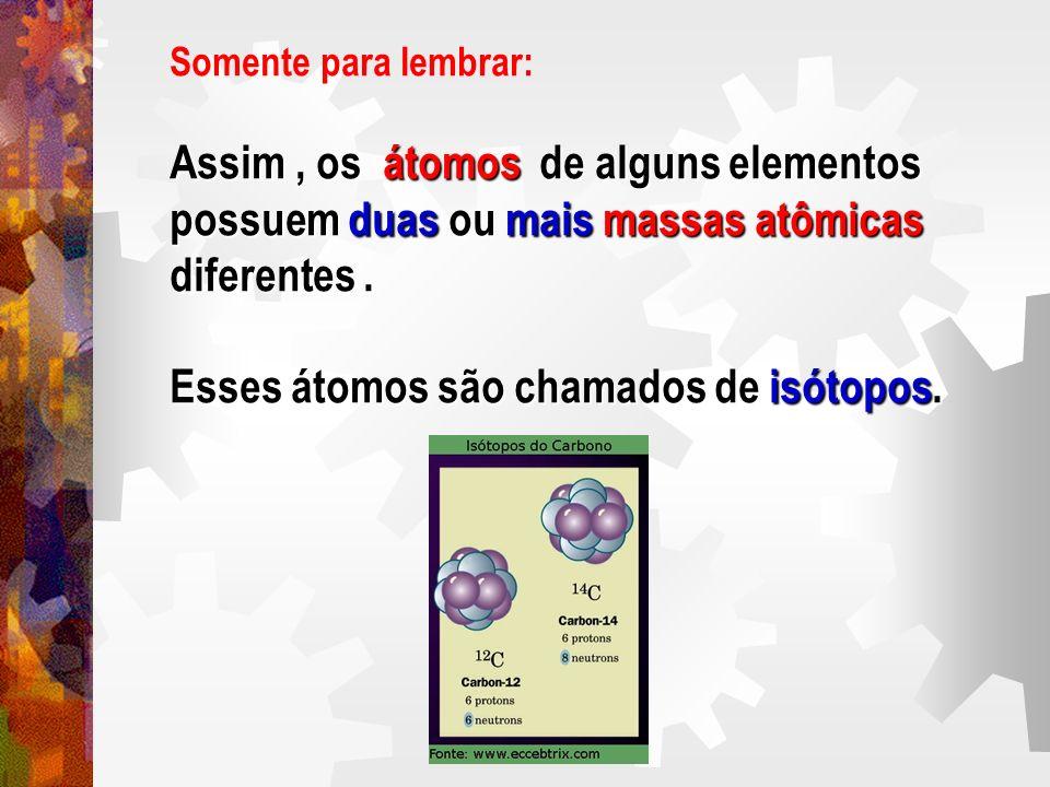 Assim , os átomos de alguns elementos
