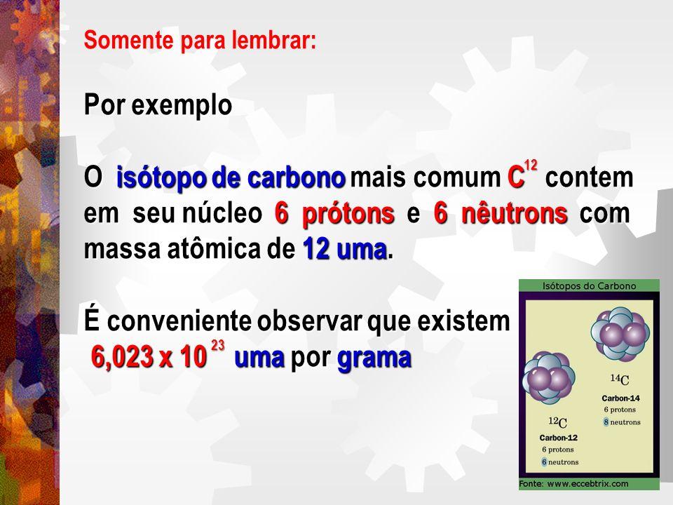 O isótopo de carbono mais comum C contem