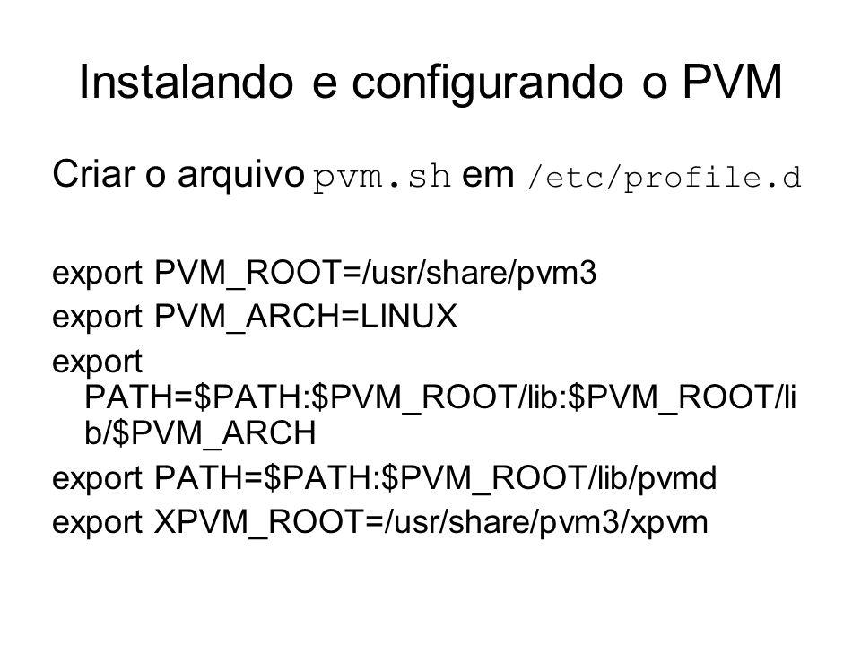 Instalando e configurando o PVM