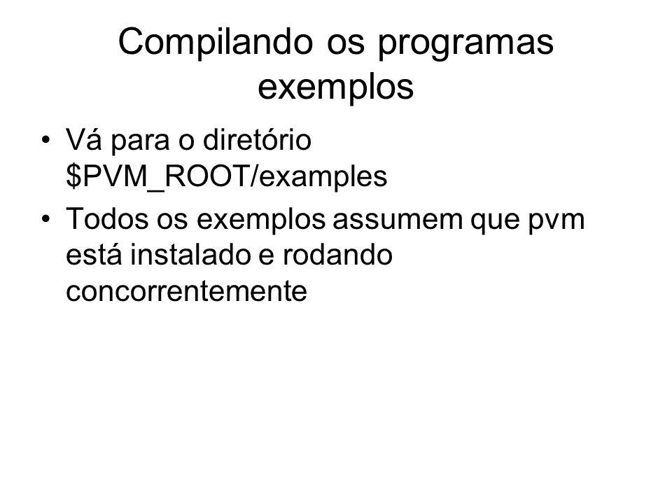 Compilando os programas exemplos