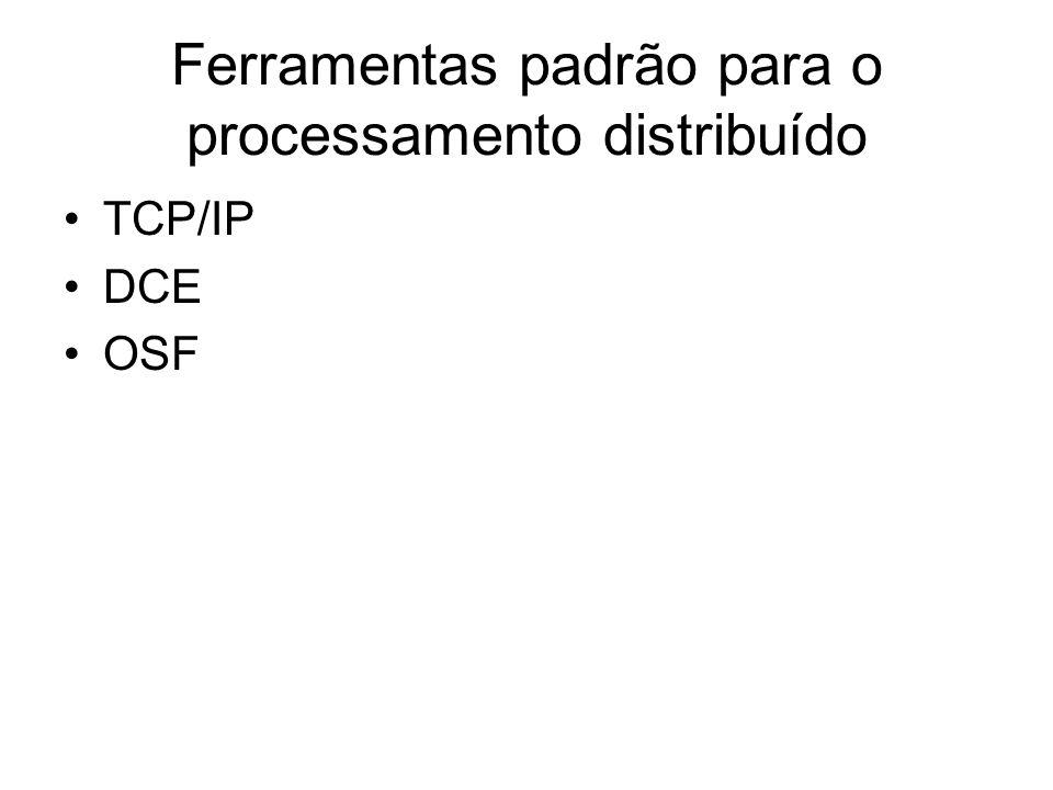 Ferramentas padrão para o processamento distribuído