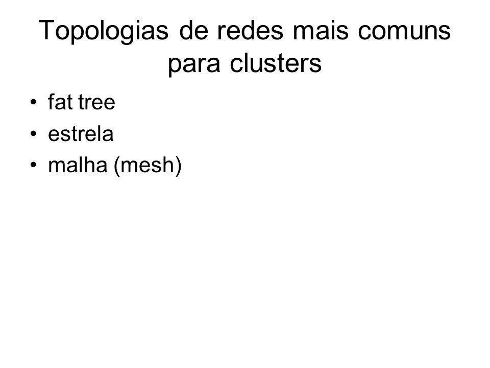 Topologias de redes mais comuns para clusters
