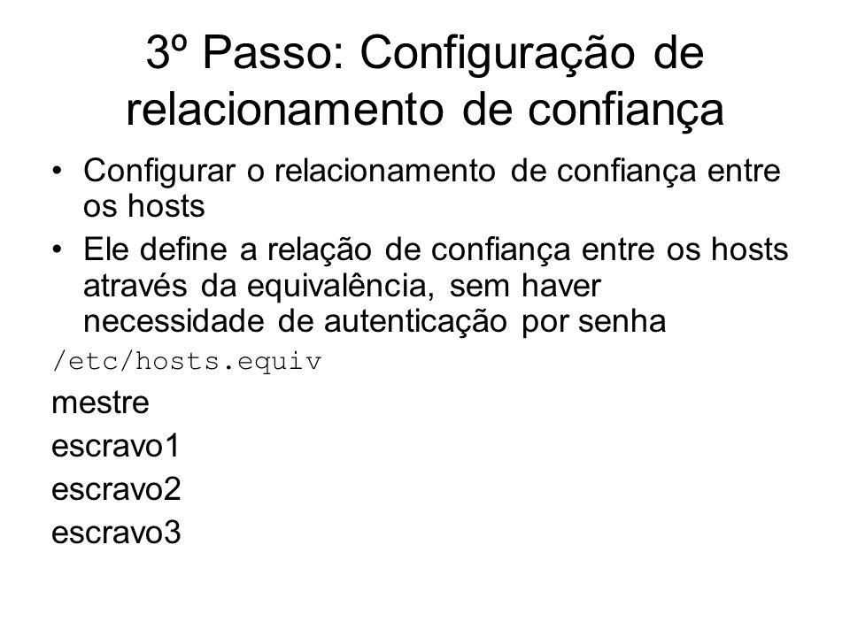 3º Passo: Configuração de relacionamento de confiança