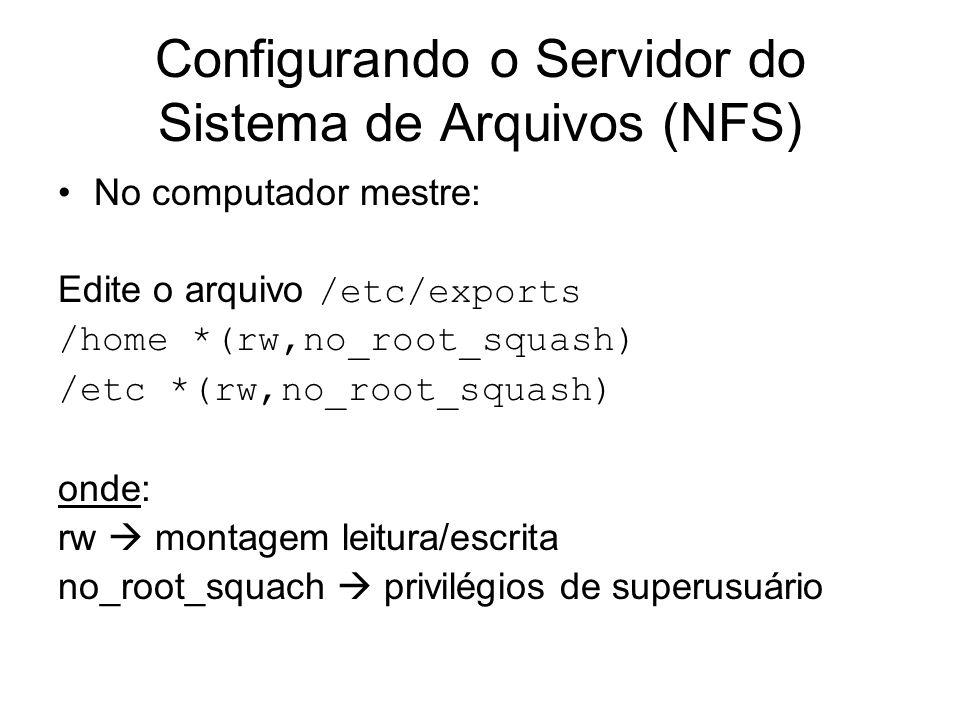 Configurando o Servidor do Sistema de Arquivos (NFS)
