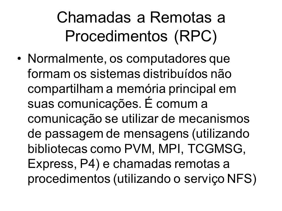 Chamadas a Remotas a Procedimentos (RPC)