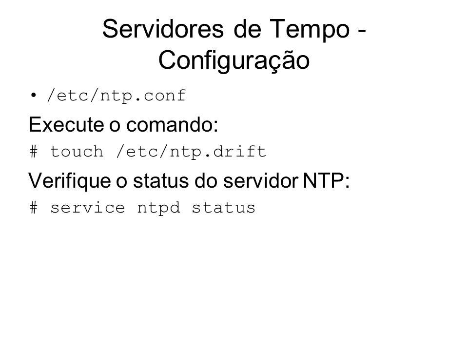 Servidores de Tempo - Configuração