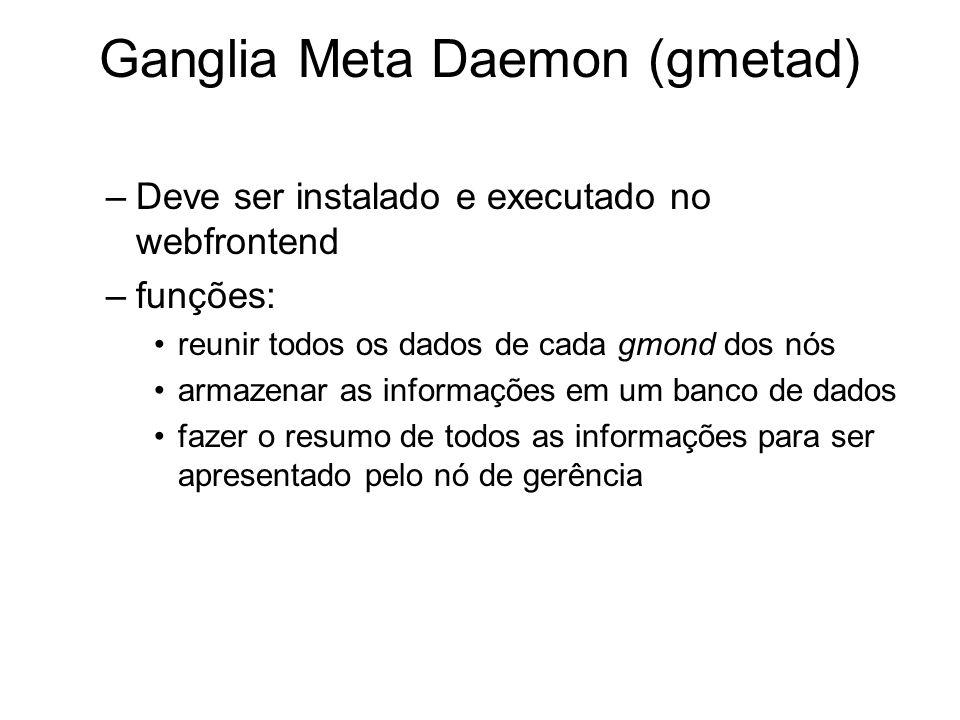 Ganglia Meta Daemon (gmetad)