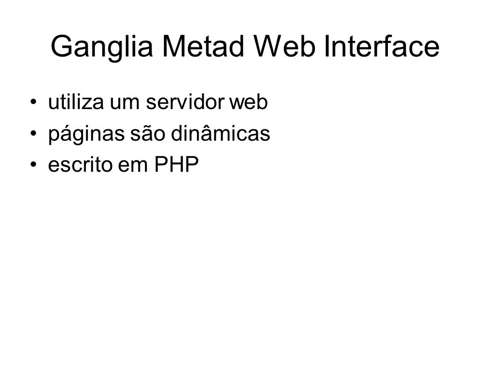 Ganglia Metad Web Interface