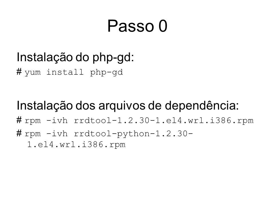 Passo 0 Instalação do php-gd: Instalação dos arquivos de dependência:
