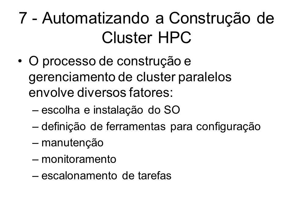 7 - Automatizando a Construção de Cluster HPC