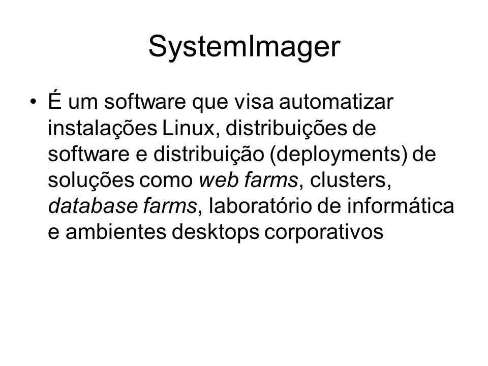 SystemImager