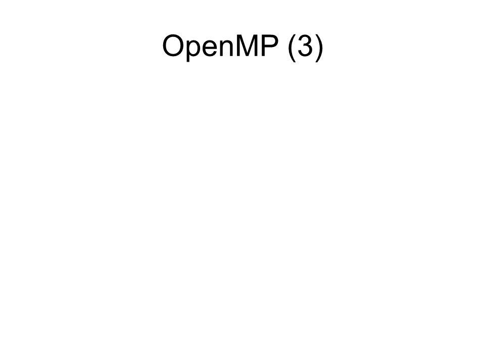 OpenMP (3)