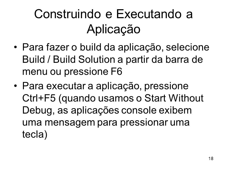 Construindo e Executando a Aplicação