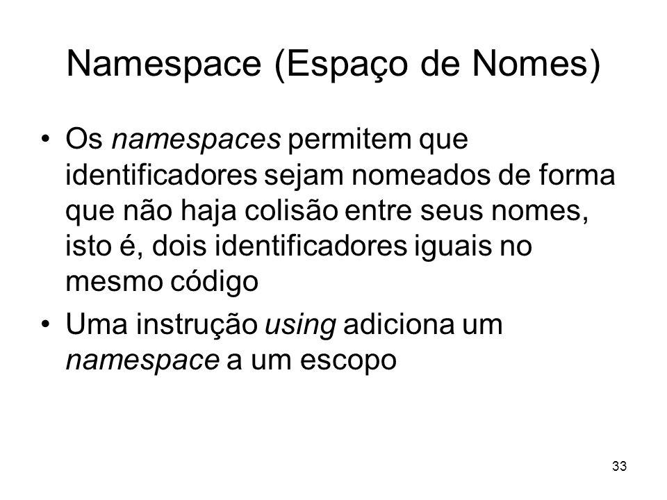 Namespace (Espaço de Nomes)