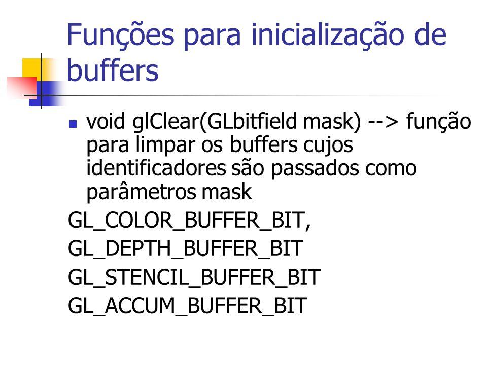 Funções para inicialização de buffers