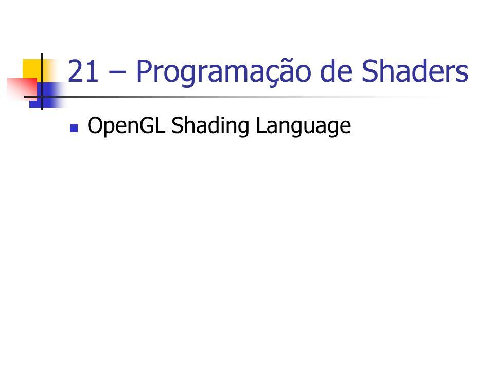 21 – Programação de Shaders
