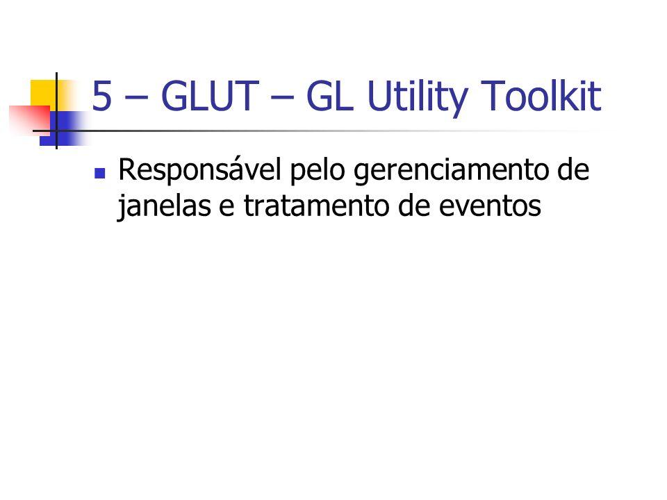 5 – GLUT – GL Utility Toolkit