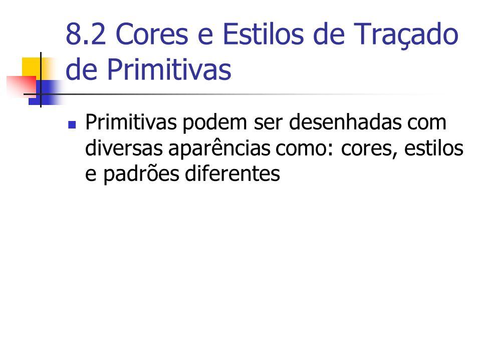 8.2 Cores e Estilos de Traçado de Primitivas