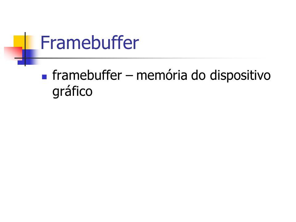 Framebuffer framebuffer – memória do dispositivo gráfico