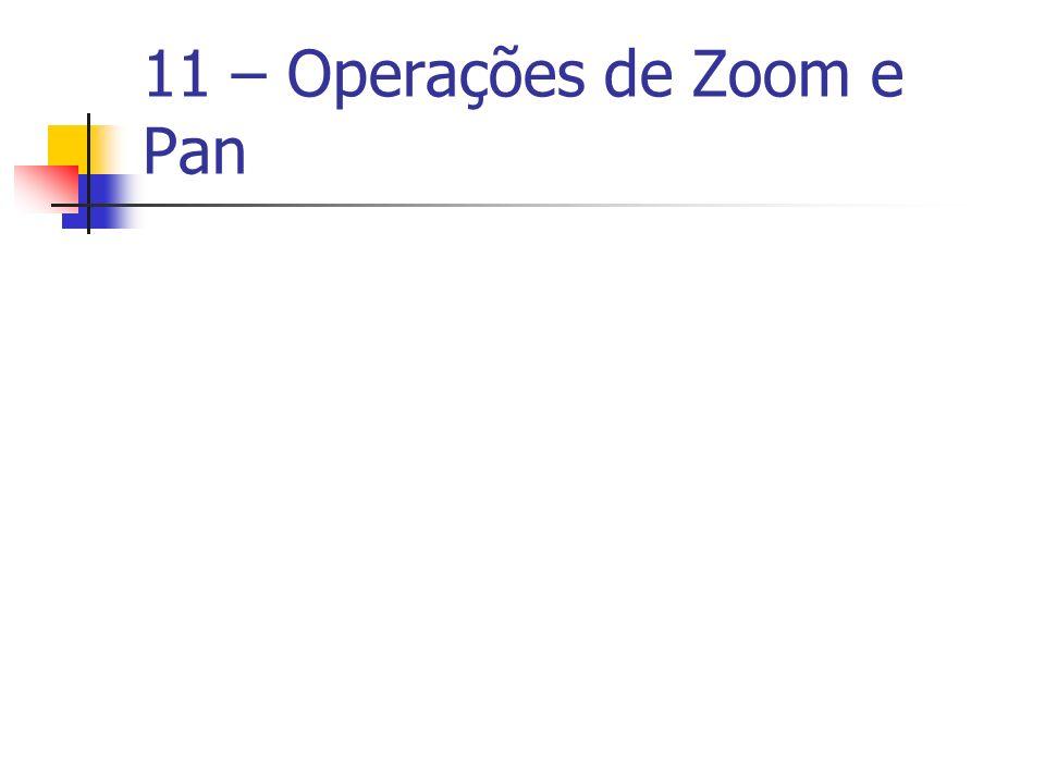 11 – Operações de Zoom e Pan