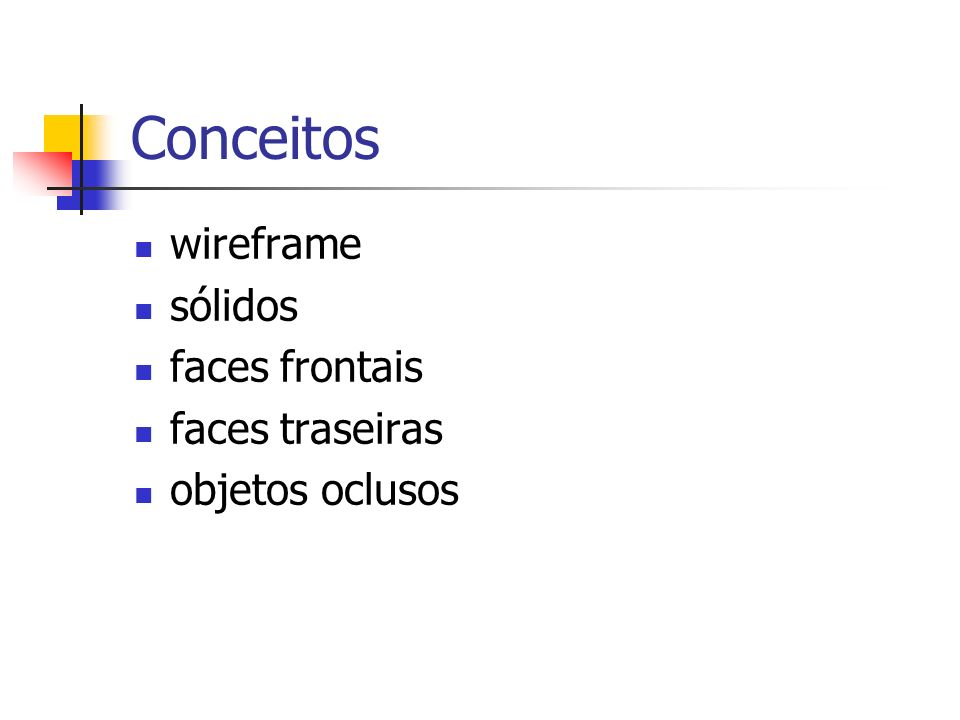 Conceitos wireframe sólidos faces frontais faces traseiras