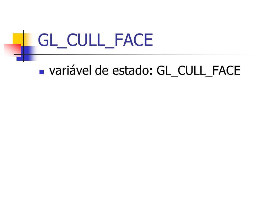 GL_CULL_FACE variável de estado: GL_CULL_FACE