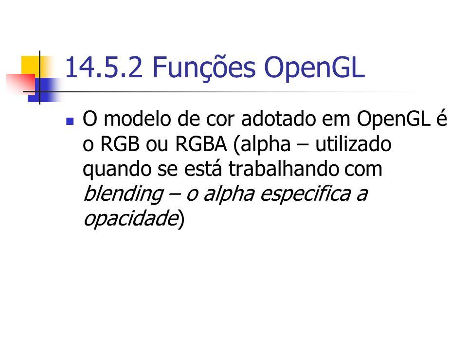 14.5.2 Funções OpenGL